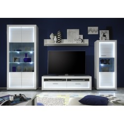 Iluminati II - large gloss TV set with LED lights