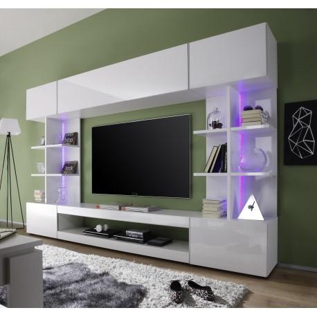 Tres Modern Tv Wall Set With Rgb Led Lights Wall Units