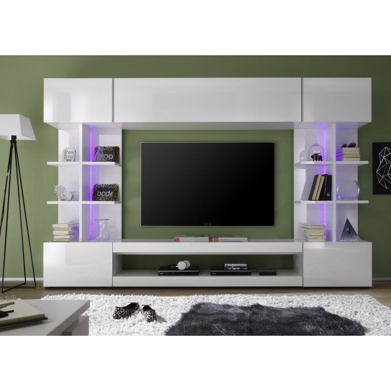 Tres Modern TV Wall Set With RGB Led Lights Units Sena Home Furniture