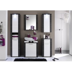Xpress - high gloss and grey bathroom set