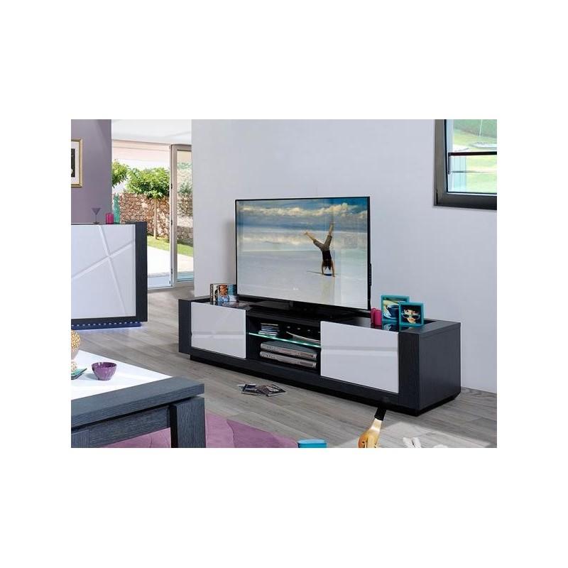 quartz white lacquer tv unit with dark wood body tv. Black Bedroom Furniture Sets. Home Design Ideas
