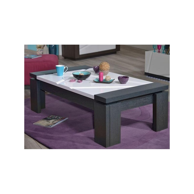 Quartz white lacquer coffee table with dark wood body  : quartz white lacquer coffee table with dark wood body from sena-homefurniture.co.uk size 800 x 800 jpeg 56kB