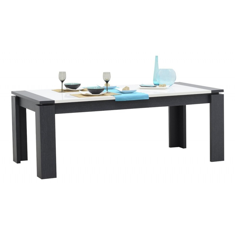 Quartz Kitchen Tables: Quartz Extendable Dining Table With Dark Wood Body