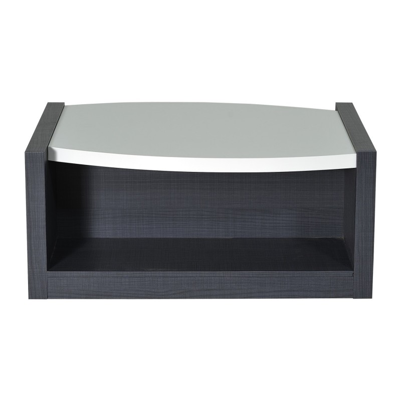 Elypse White Lacquer Coffee Table With Dark Wood Body Coffee Tables Sena Home Furniture