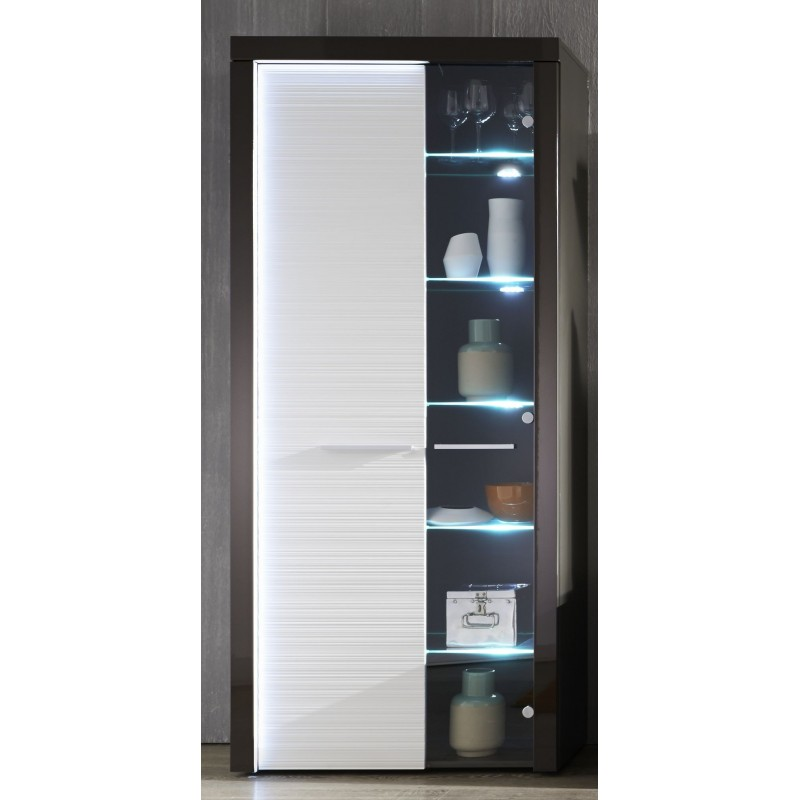 grey gloss display cabinet with led lights display cabinets