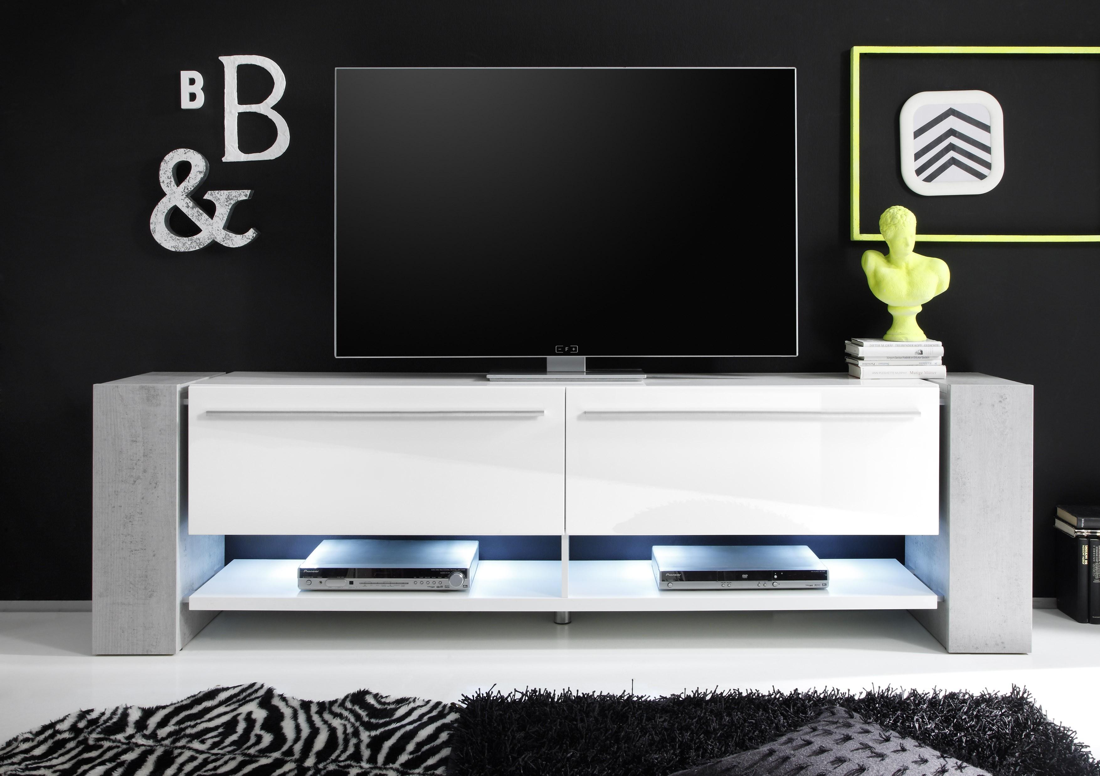 White Gloss Tv Units Page 3 Sena Home Furniture # Meuble Tv Lina