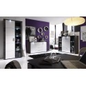 Xpress -grey ash and white gloss sideboard with LED lights
