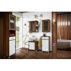Aron -  bathroom set in cherry wood colour finish