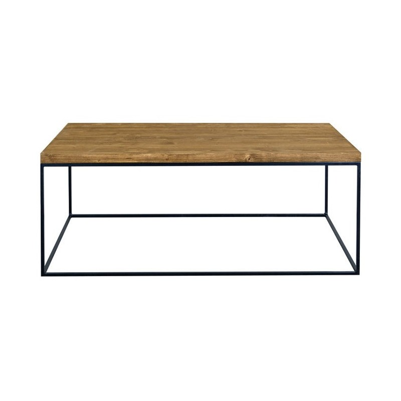 Redwood Ii Industrial Style Pine Wood Coffee Table Coffee Tables Sena Home Furniture