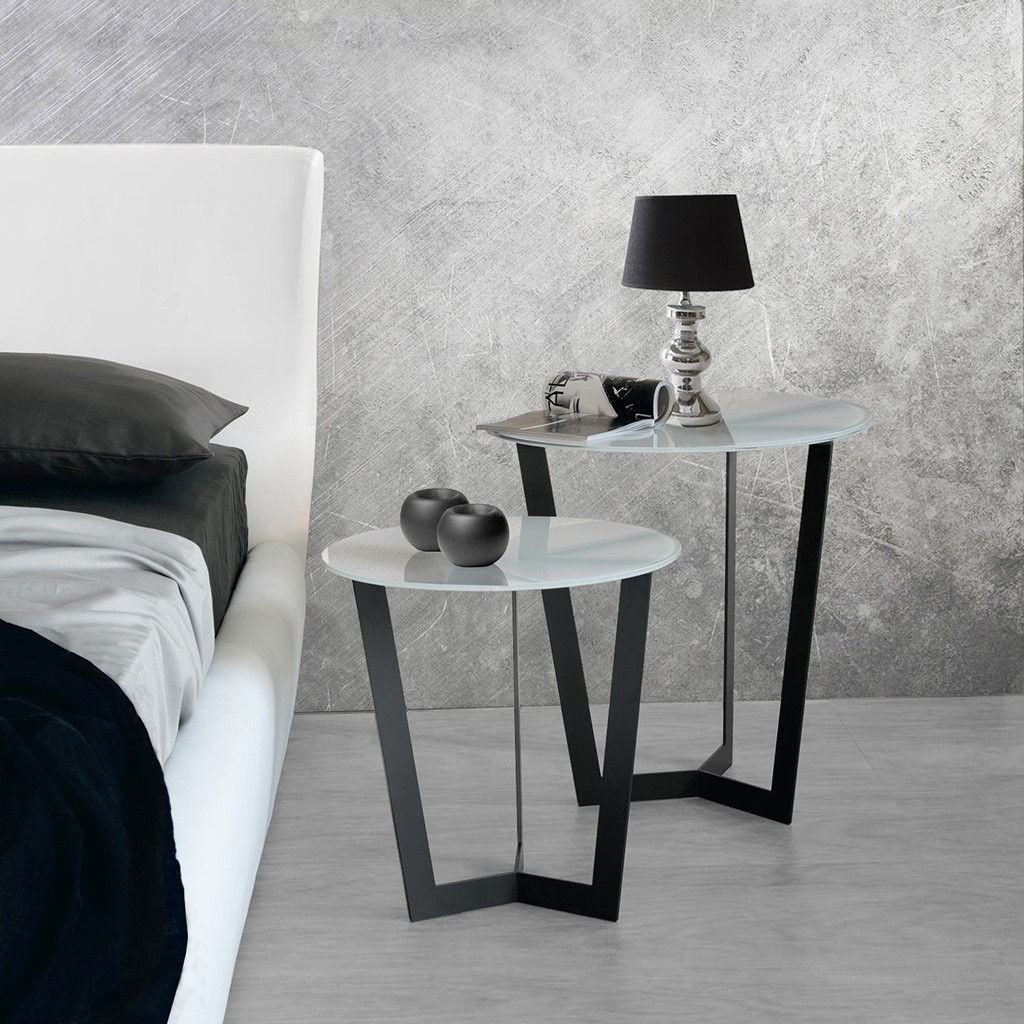 Bells contemporary nest of 2 tables in solid oak and for Modern nest of coffee tables