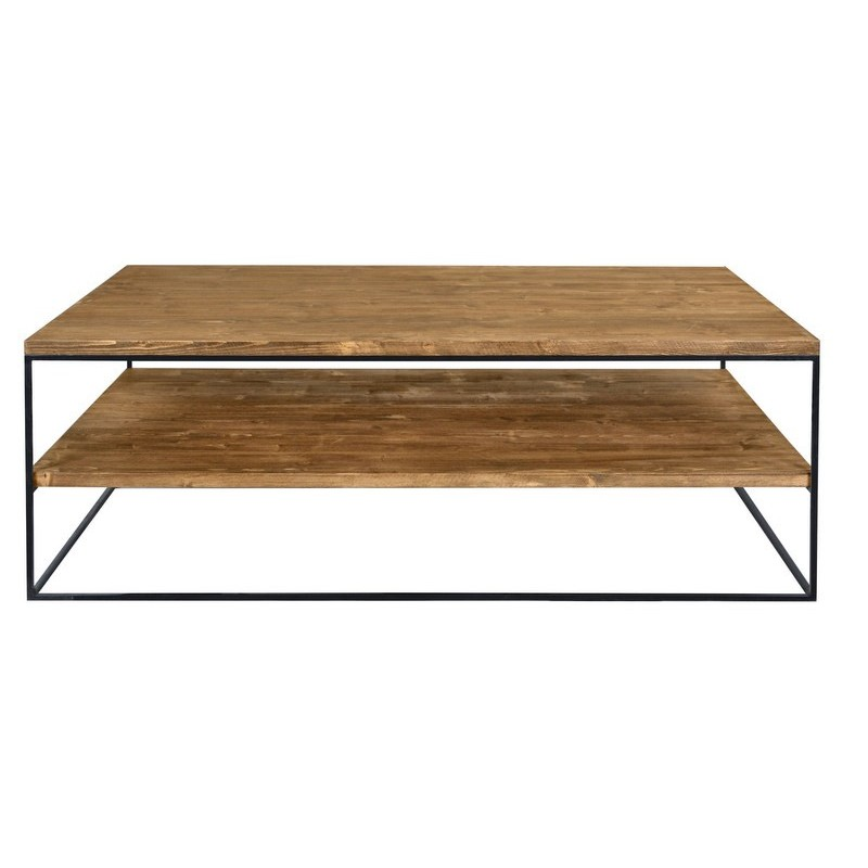 Redwood Iii Industrial Style Pine Wood Coffee Table Coffee Tables Sena Home Furniture