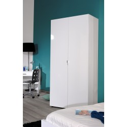 First - white gloss 2 door wardrobe