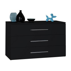 First- black gloss chest of drawers