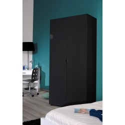 First - black gloss 2 door wardrobe