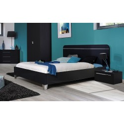 First- black high gloss lacquered bed