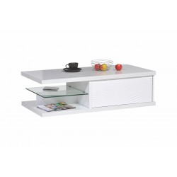 Samba lacquered coffee table with lighting