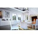 Samba assembled large white gloss sideboard with led lights