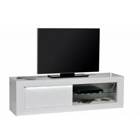 Samba - white gloss TV Unit with LED lights