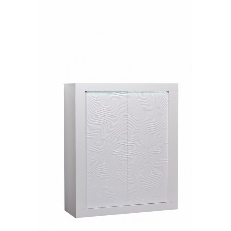 Samba white gloss highboard with led lights