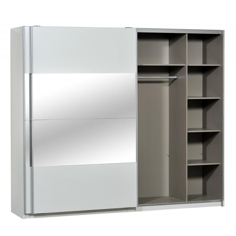 Optimus Large White Gloss Wardrobe With Sliding Doors