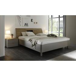 Tambura- Italian modern bed beige and wenge