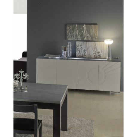 Megaa -luxury high gloss sideboard with LED lights