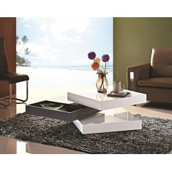 Halo II white high gloss coffee table