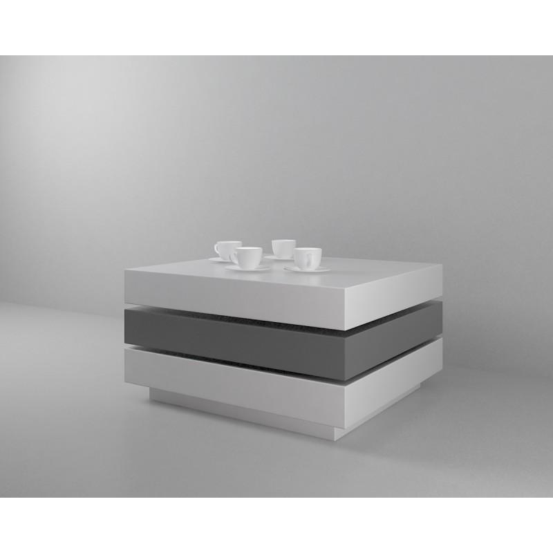 Coffee Table High Gloss White: Halo II White High Gloss Coffee Table