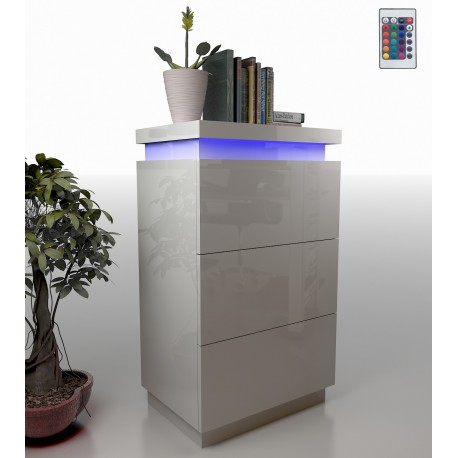 Avanti VIII - gloss drawer chest with LED lights