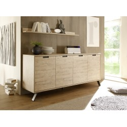 Parma- light oak 4 door sideboard