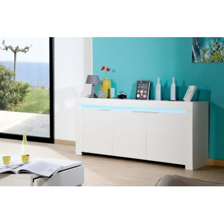 Gala -white  gloss sideboard with LED lights