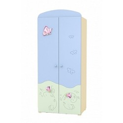 Secret garden - double door wardrobe