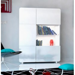 Bump -white gloss storage ,display unit with LED lights