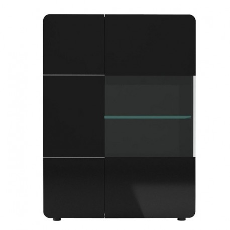 Bump -black gloss storage ,display unit with LED lights