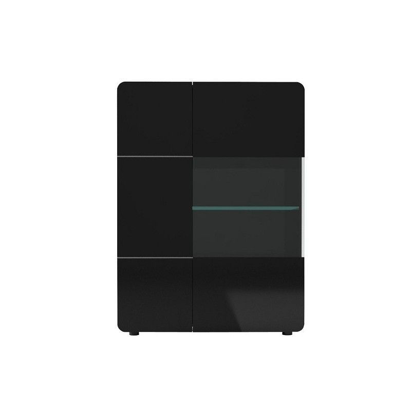 Bump  Black Gloss Storage ,display Unit With LED Lights