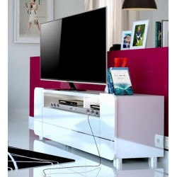 Bump -white gloss TVStand with LED lights