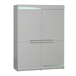 Ovio - white gloss highboard with LED lights