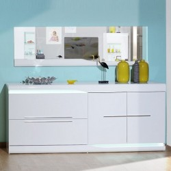 Ovio -white gloss sideboard with LED lights