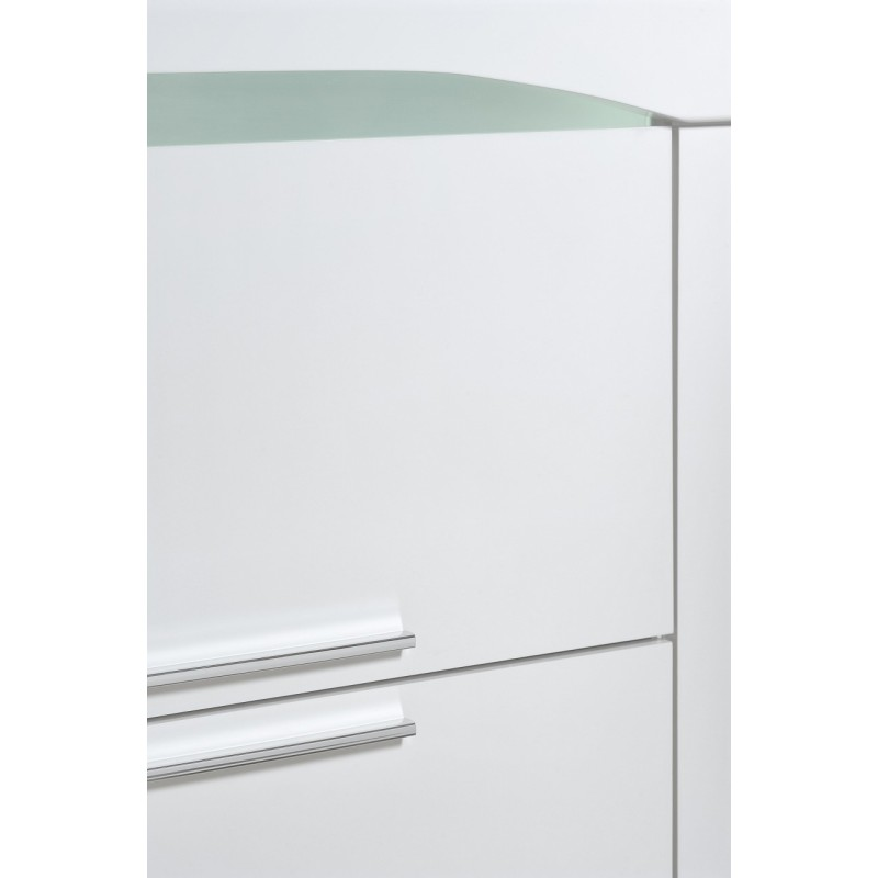 White Gloss Led Furniture: Ovio White Gloss Sideboard With Led Lights
