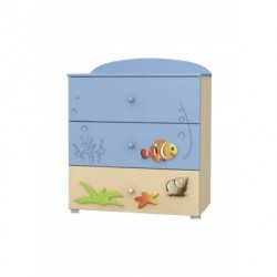 Blue Lagoon - chest of 3 drawers