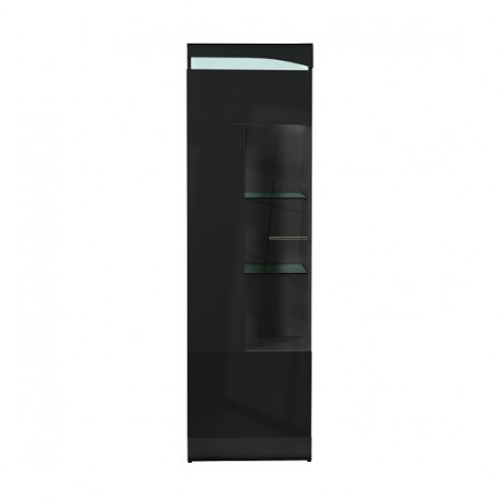 Merveilleux Ovio   Black Narrow Display Cabinet With LED Lights