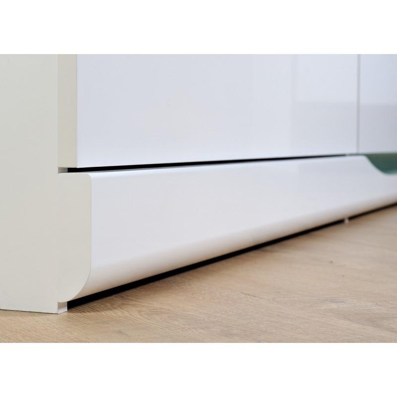 White Gloss Led Furniture: White High Gloss TV Unit With LED Lights