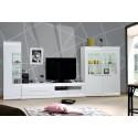 Ovio - white High Gloss TV Unit with LED lights