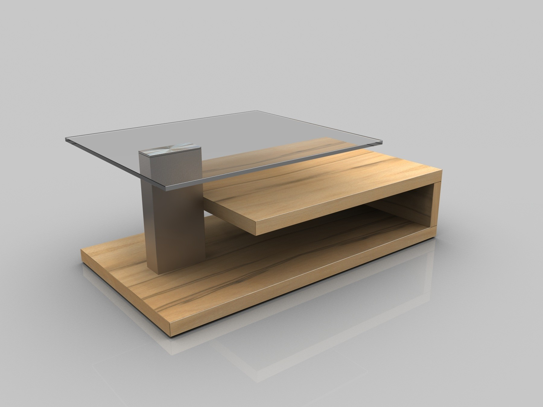 6772 2017 Oak Glass Top Coffee Table Just