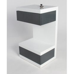 Linus -high gloss side table
