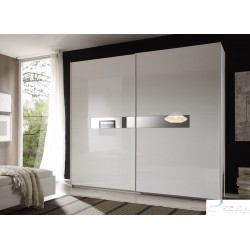 Lidia -white high gloss wardrobe with sliding doors