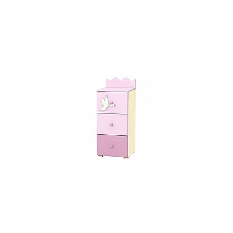 Swan - tall narrow chest of 3 drawers