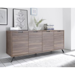 Parma- dark walnut 4 door sideboard
