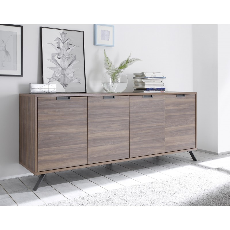 parma dark walnut 4 door sideboard practical 4 doors sideboard in dark