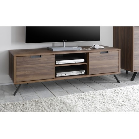 parma dark walnut tv stand tv stands 1814 sena home. Black Bedroom Furniture Sets. Home Design Ideas